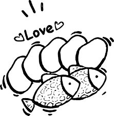 5 loaves and 2 fish love coloring page wecoloringpage