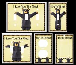 bear light switch covers black bear i love you this much light switch cover plate switch