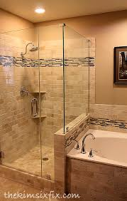 master bathroom shower ideas master bathroom reveal 80s to awesome the kim six fix