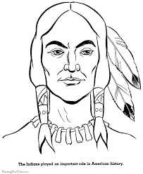 thanksgiving indian brave coloring pictures 012
