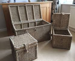 wicker patio storage bench charming wicker outdoor storage bench sale glamorous
