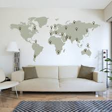 world map outline wall decal wallboss wall stickers wall art large world map wall decal