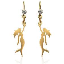 mermaid earrings gold miss scuba mermaid earring with gold mermaid jewelry