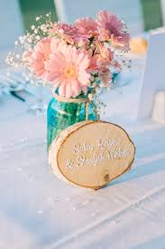 Wedding Centerpieces Using Mason Jars by Wedding Centerpiece With Gerbera And Baby U0027s Breath In Colored