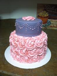 pink rossette and grey chevron baby shower cake cakes u0026 parties