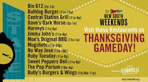 starkville restaurants open thursday