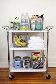 try this a guest room cart u2013 a beautiful mess