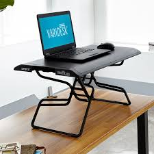 lighted laptop desk tray shop standing desk products varidesk sit to stand desks