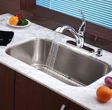 kraus kbu14 31 1 2 inch undermount single bowl 16 gauge stainless steel kitchen sink expressdecor com