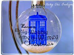set of four limited edition dr who tags decorations