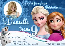 Design For Birthday Invitation Card Frozen Birthday Invitation Marialonghi Com