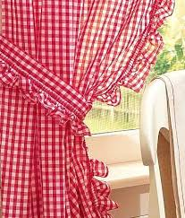 terrific red gingham kitchen curtains u2013 muarju