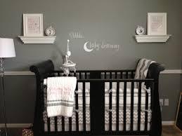 Baby Boy Wall Decor Nursery Dark Gray Walls Dark Crib White Accents Baby Room