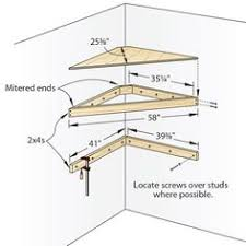 Free Wood Corner Shelf Plans by This Is A Design For A Corner Shelf Made Of Plywood Diy