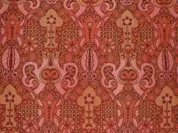 vintage 1960s sanderson tempo art nouveau cotton original 1970s