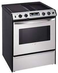 Electric Cooktop With Downdraft Exhaust Amana Ards802ss 30 Inch Self Clean Slide In Downdraft Electric Range