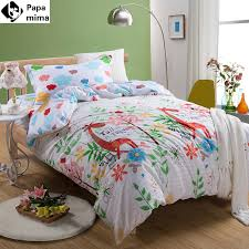 bedding set 3pcs cotton duvet cover pillowcase bedsheet giraffe