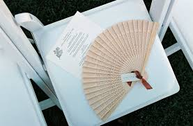 Hand Fan Wedding Programs Outdoor Wedding Ceremony Fans Shade U0026 Parasols Inside Weddings