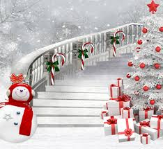 christmas photo backdrops winter photography background snowman backdrops stair