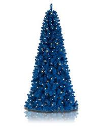 Blue Christmas Trees Decorating Ideas - colorful christmas trees treetopia