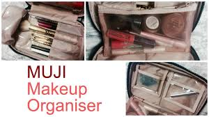 the best makeup bag ever muji organiser idylle doll youtube