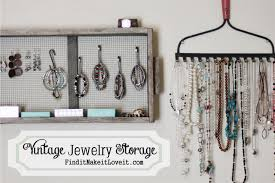 jewellery necklace storage images Vintage jewelry storage organization find it make it love it jpg