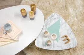 diy marble table with pastel shapes miliboo blog uk