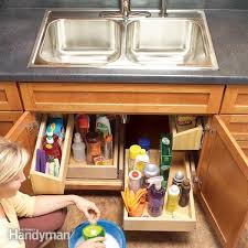 How To Build Kitchen Sink Storage Trays Family Handyman - Kitchen sink drawer
