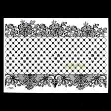 1 sheet tattoo flash black tattoo kit bj206 henna lace flower