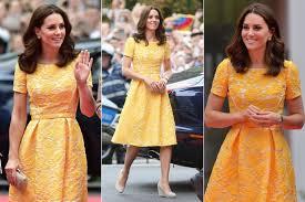 kate middleton dresses kate middleton is golden girl in packham dress as she wears