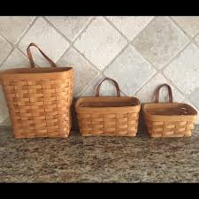 longaberger baskets longaberger longaberger key baskets 3pc wall hanging set from
