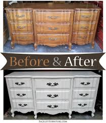 Repurposed Furniture Before And After by Antiqued White French Provincial Dresser Before U0026 After