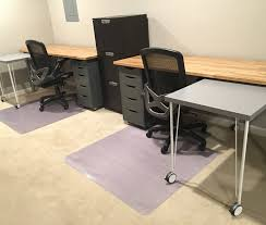 Ikea Office Desks For Home Ikea Hack Custom Transforming Home Office Desks Saving