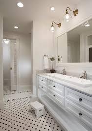 Double Trough Sink Bathroom Vanity New York Double Trough Sink Bathroom Contemporary With Towels