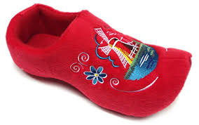 amazon com comfy dutch clog slippers red slippers