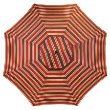 Plantation Patterns Seat Cushions by Plantation Patterns 11 Ft Aluminum Patio Umbrella In Chili Stripe