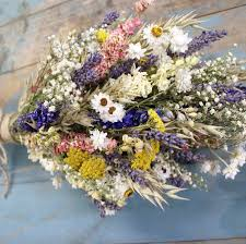 dried flowers festival meadow dried flower wedding bouquet by the artisan dried