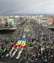 st patrick u0027s day 2012 parade in dublin grey skies and green