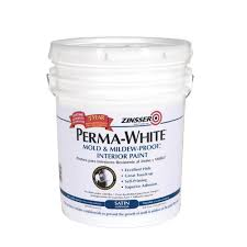 home depot 5 gallon interior paint zinsser 5 gal perma white mold and mildew proof satin interior