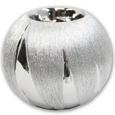 Wohnzimmer Deko Kerzen Teelichthalter Silber Kugelform 10 Cm Kerzen