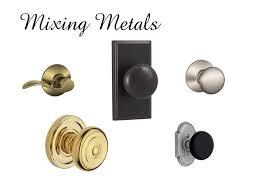 Mixing Metals In Bathroom Mixing Metals In Home Decor