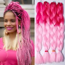 Hairstyles With Jumbo Braiding Hair 64inch 165gram Ombre Color Synthetic Jumbo Braiding Twist Hair