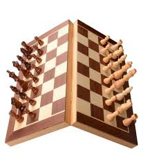 scrafts 8 inch engineered wood magnetic chess board buy online at
