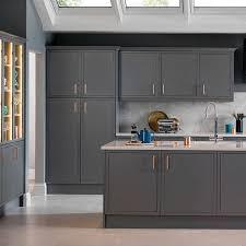 kitchen ideas grey newbury grey magnet kitchen copper handles kitchen