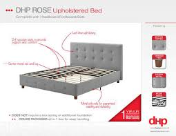 Upholstered Bed Frame Full Rose Linen Upholstered Bed Multiple Sizes And Colors Walmart Com
