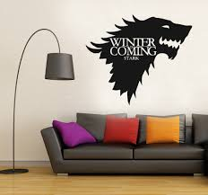 compare prices on winter decal online shopping buy low price new removable game of thrones wolf wall decal stark winter is coming art vinyl home wall