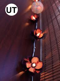 String Of Flower Lights by Egg Carton Flower Lights Upcycle That