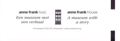 entrance tickets u2013 anne frank house amsterdam have bag will travel