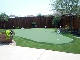 Synthetic Grass Backyard Backyard Putting Greens Dallas Home Outdoor Decoration