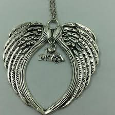 wings necklace pendant images Large angel wings necklace pendants vintage silver heart buckle jpg